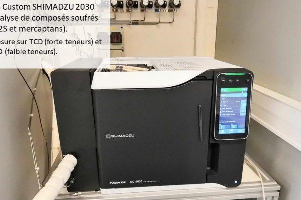 GC Custom Shimadzu 2030 pour l'analyse de composés soufrés