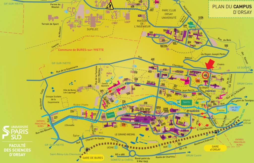 Plan Faculté Paris Sud site d'Orsay