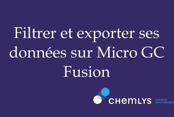 Filtrer et exporter ses données sur Micro GC Fusion