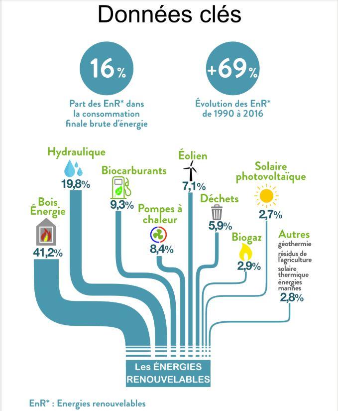 Part des Energies Renouvelables par secteur